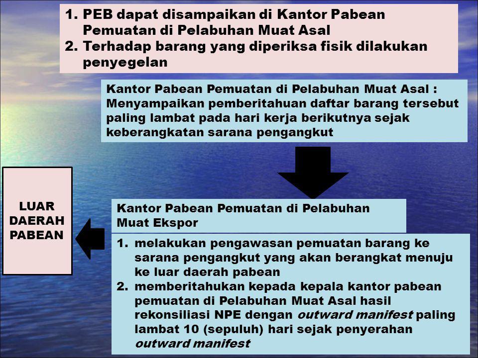 PEB dapat disampaikan di Kantor Pabean Pemuatan di Pelabuhan Muat Asal