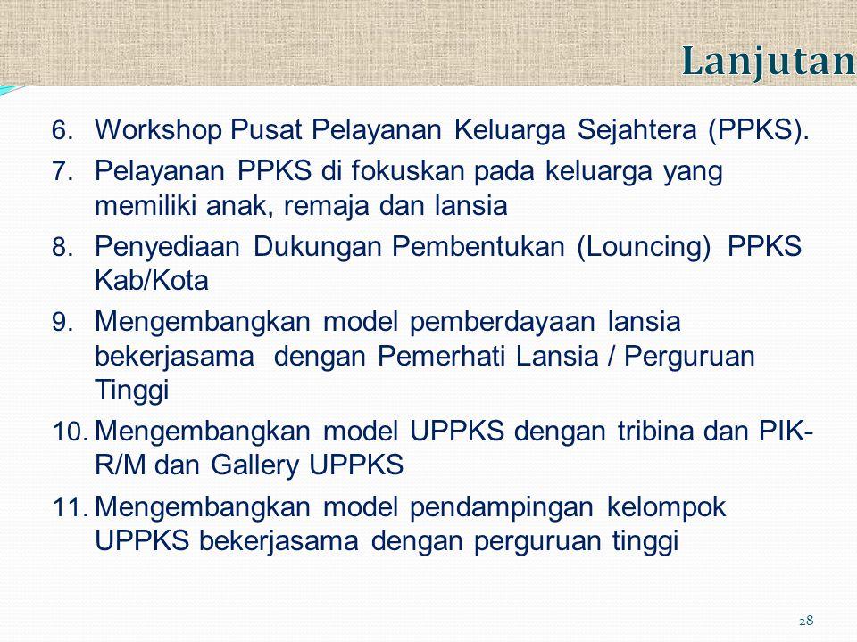 Lanjutan Workshop Pusat Pelayanan Keluarga Sejahtera (PPKS).