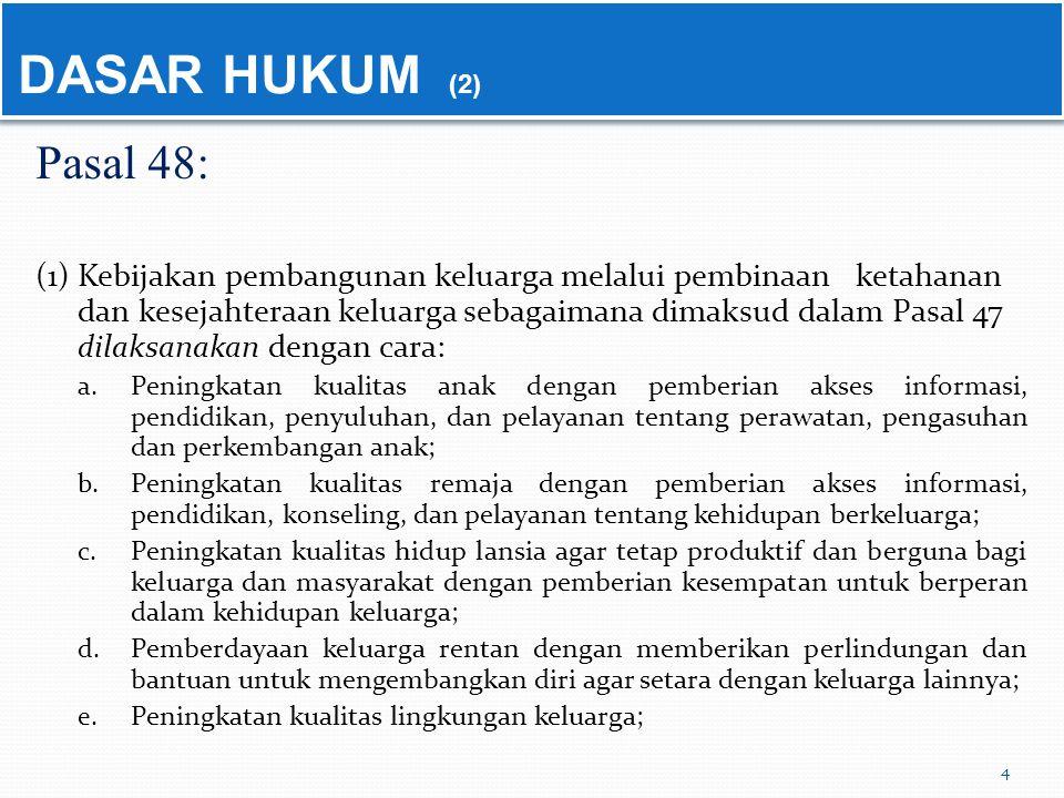 DASAR HUKUM (2) Pasal 48: