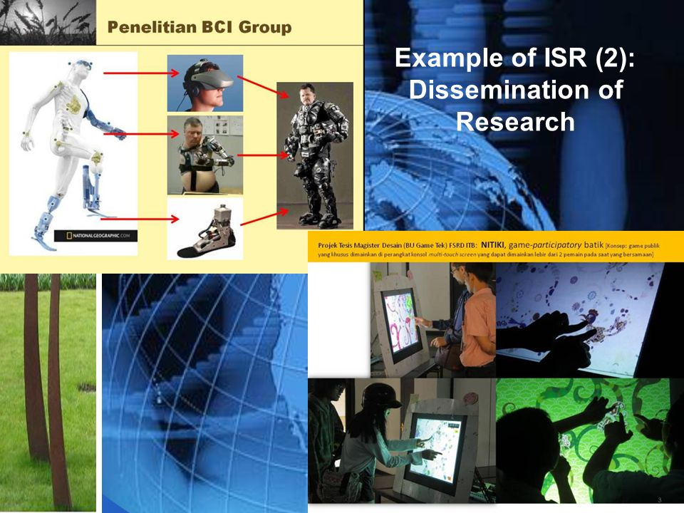 Example of ISR (2): Dissemination of Research