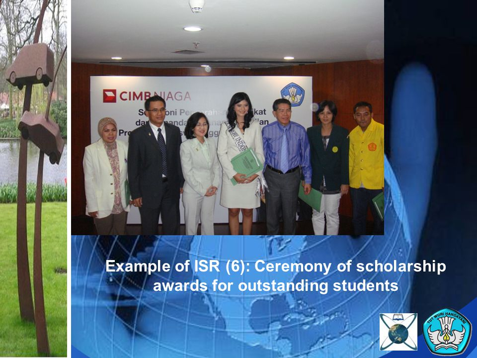 Example of ISR (6): Ceremony of scholarship awards for outstanding students