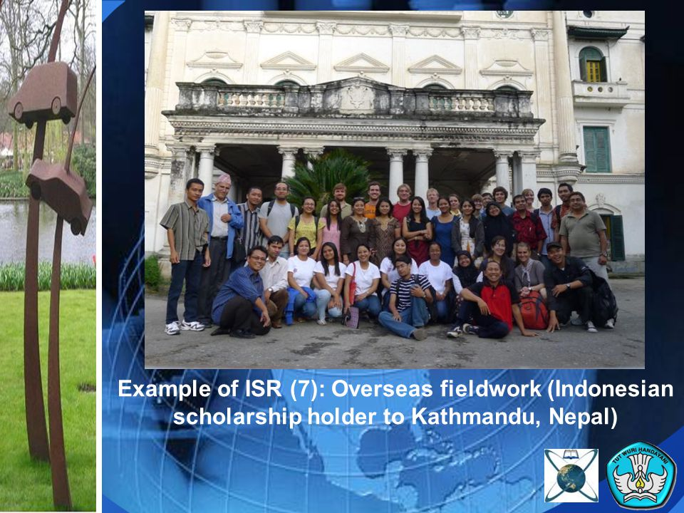 Example of ISR (7): Overseas fieldwork (Indonesian scholarship holder to Kathmandu, Nepal)