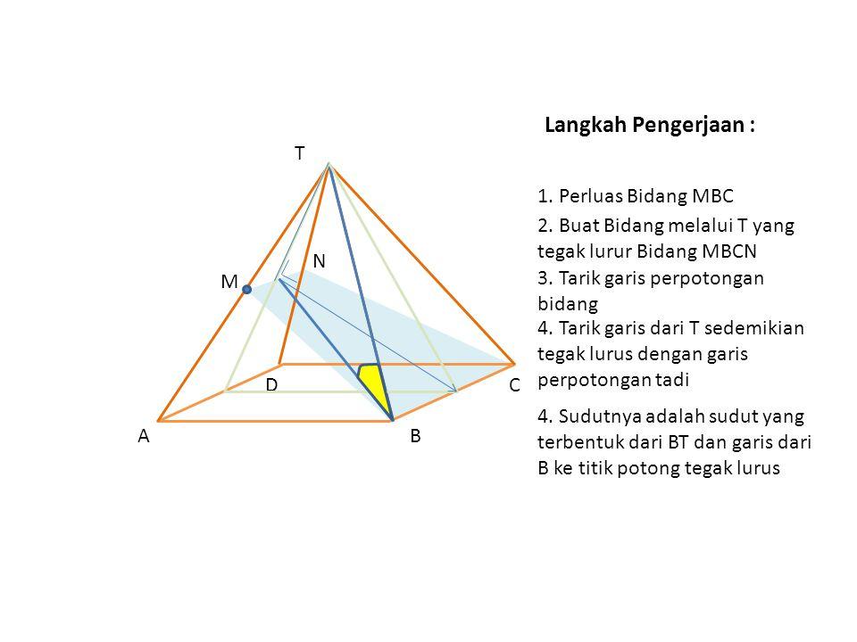Langkah Pengerjaan : T 1. Perluas Bidang MBC M