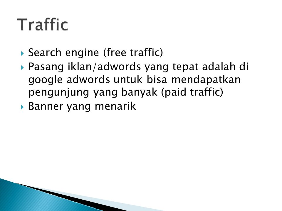 Traffic Search engine (free traffic)