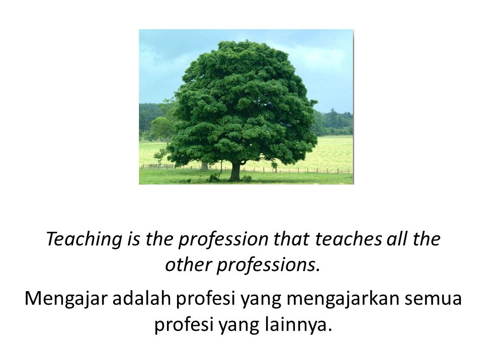 Teaching is the profession that teaches all the other professions.