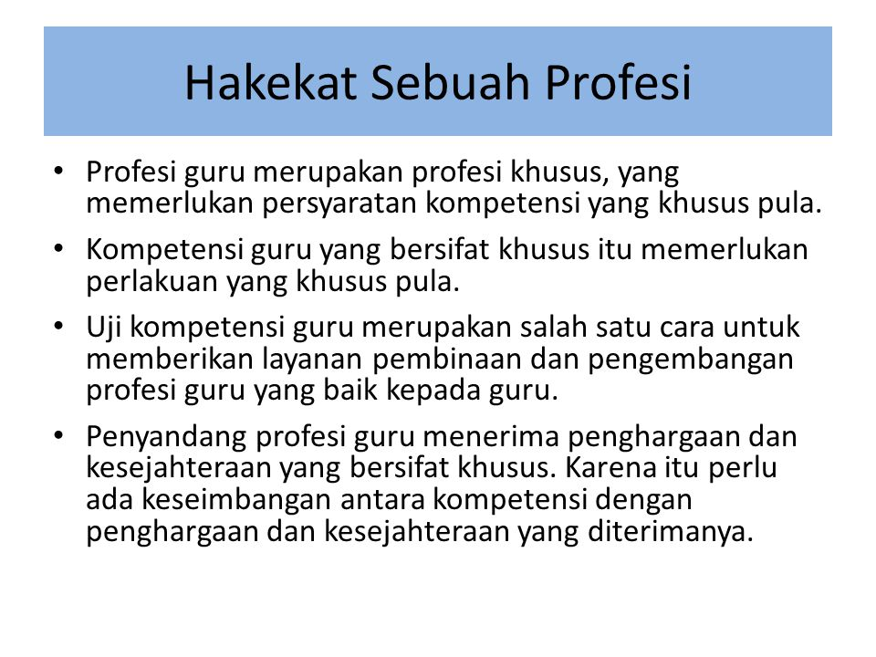 Hakekat Sebuah Profesi
