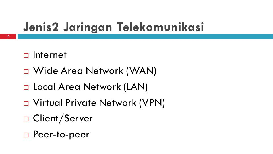 Jenis2 Jaringan Telekomunikasi