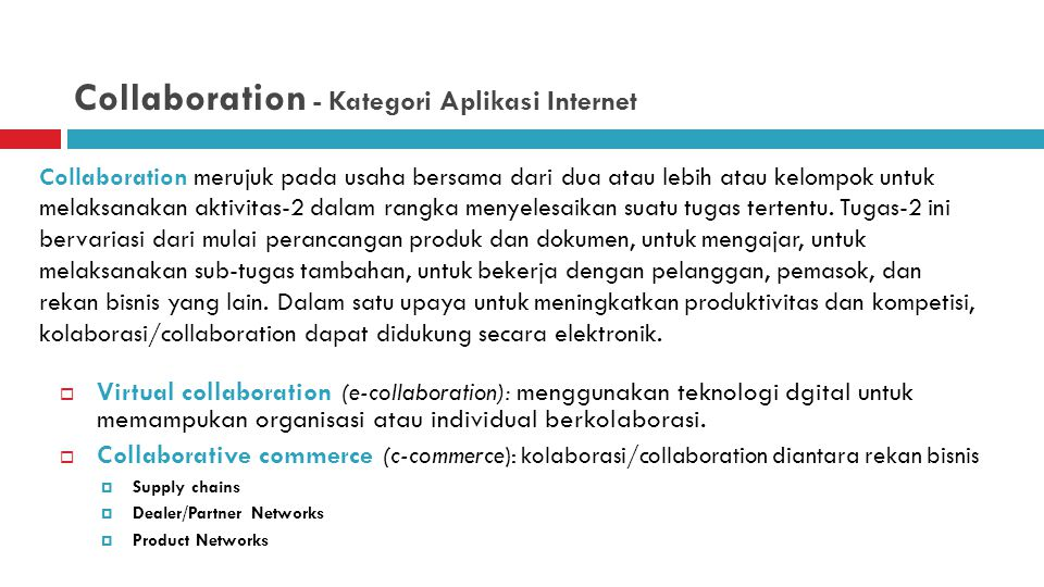 Collaboration - Kategori Aplikasi Internet