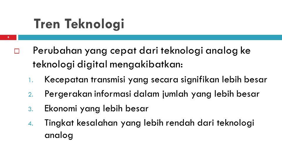 Tren Teknologi Perubahan yang cepat dari teknologi analog ke teknologi digital mengakibatkan:
