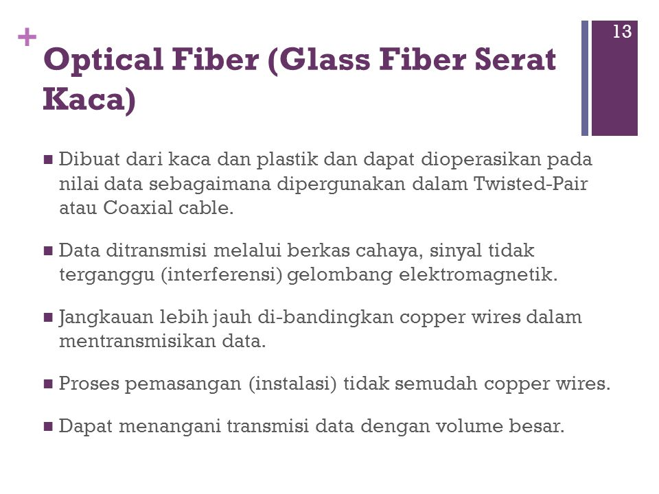 Optical Fiber (Glass Fiber Serat Kaca)