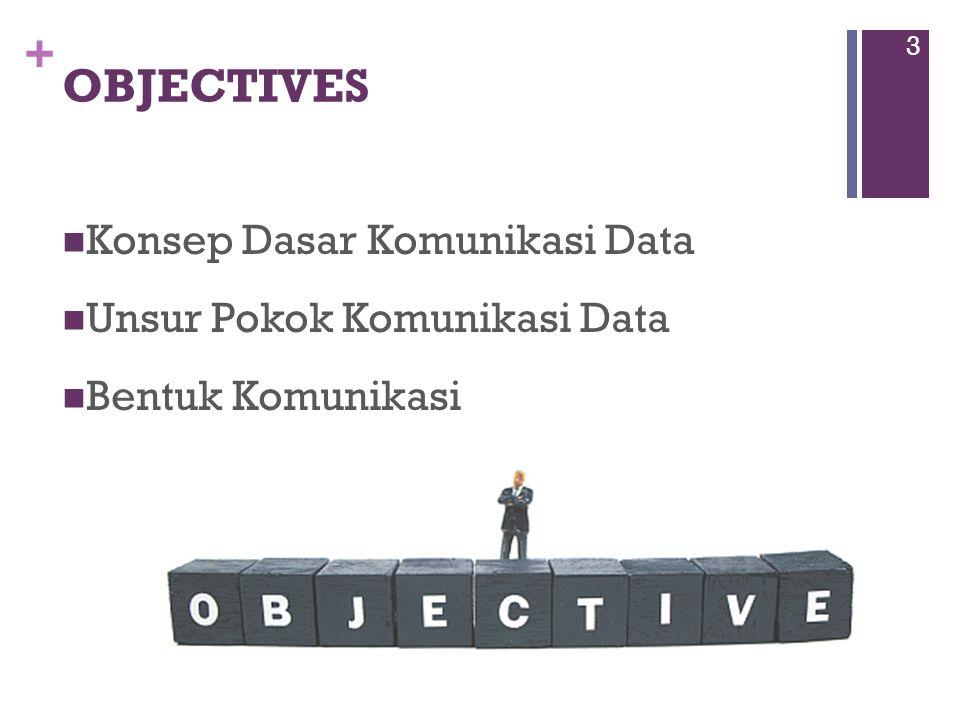 OBJECTIVES Konsep Dasar Komunikasi Data Unsur Pokok Komunikasi Data