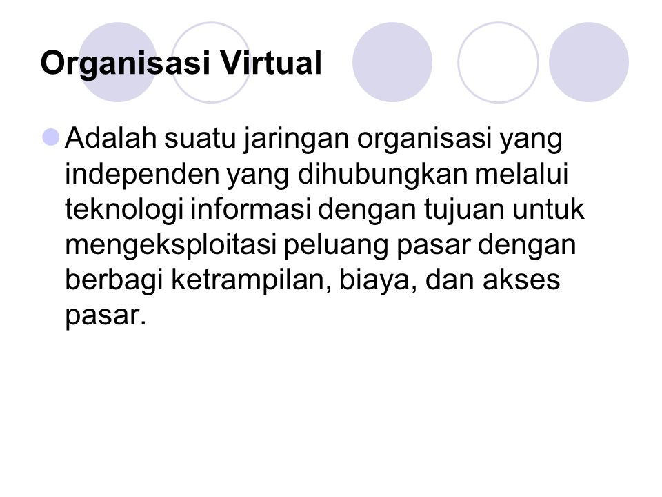 Organisasi Virtual