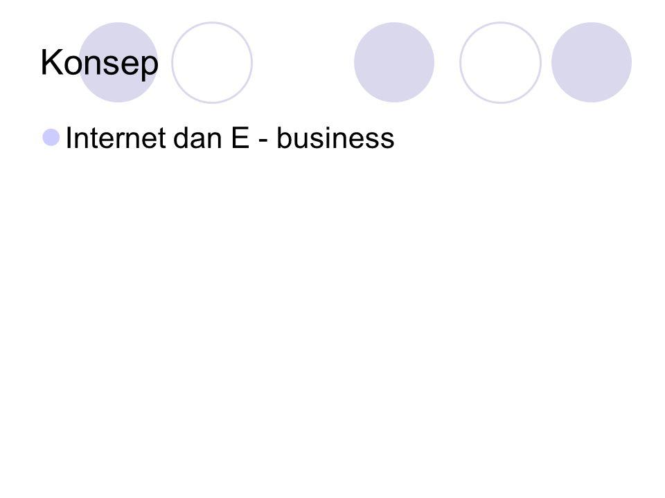 Konsep Internet dan E - business