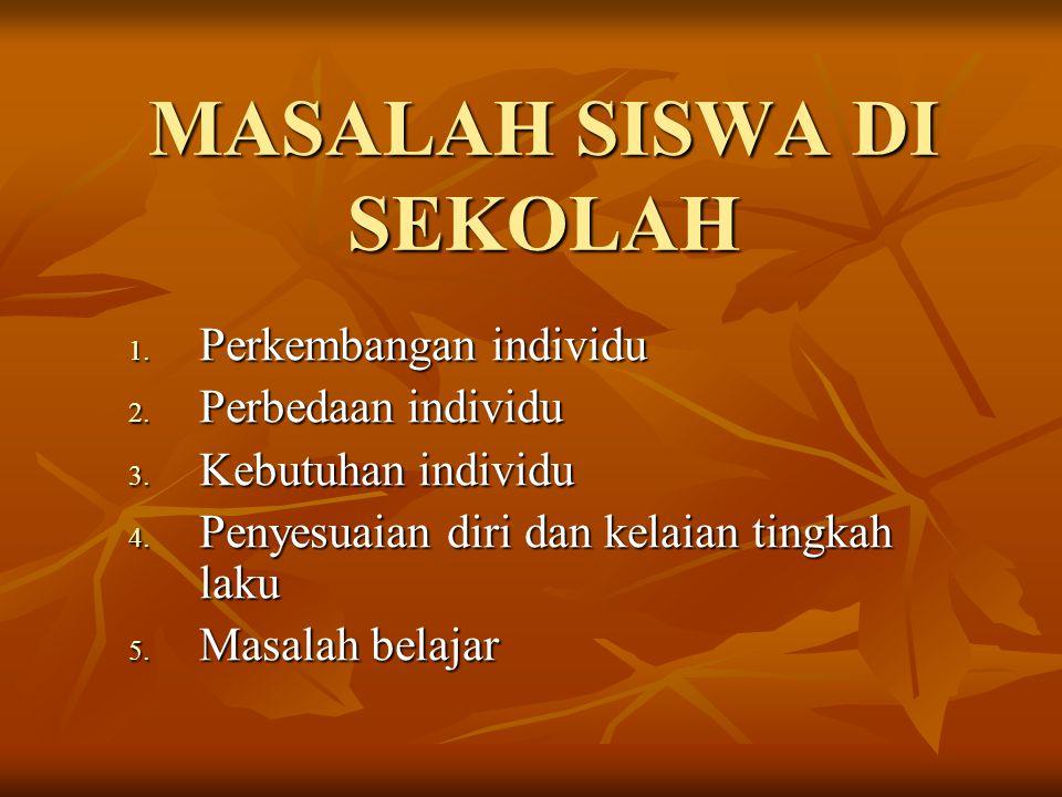 MASALAH SISWA DI SEKOLAH