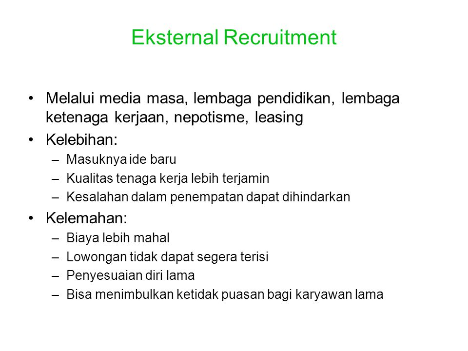 Eksternal Recruitment