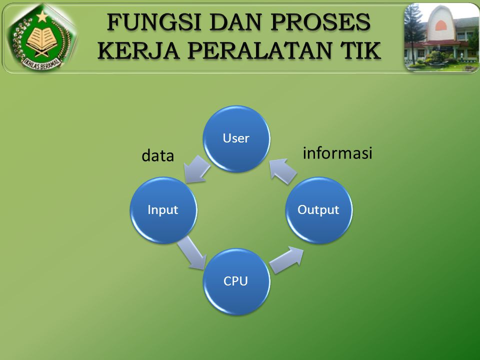 User Output CPU Input data informasi