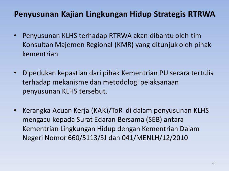 Penyusunan Kajian Lingkungan Hidup Strategis RTRWA