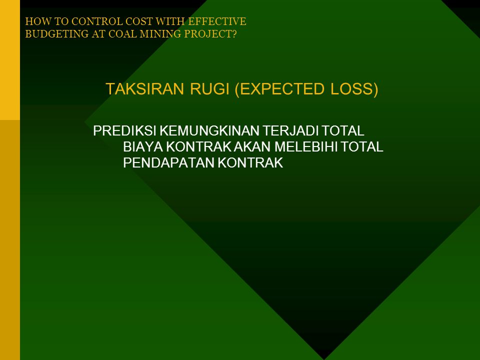TAKSIRAN RUGI (EXPECTED LOSS)