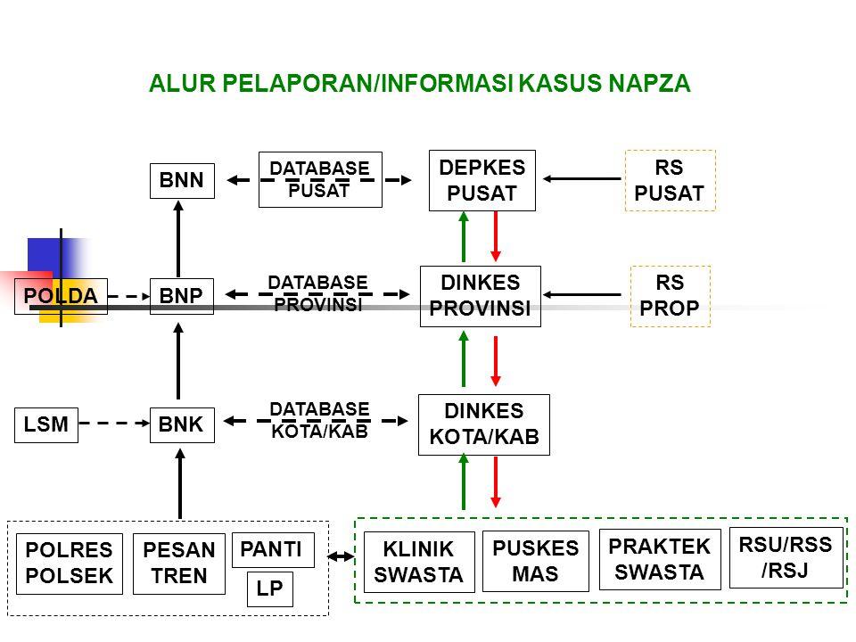 ALUR PELAPORAN/INFORMASI KASUS NAPZA