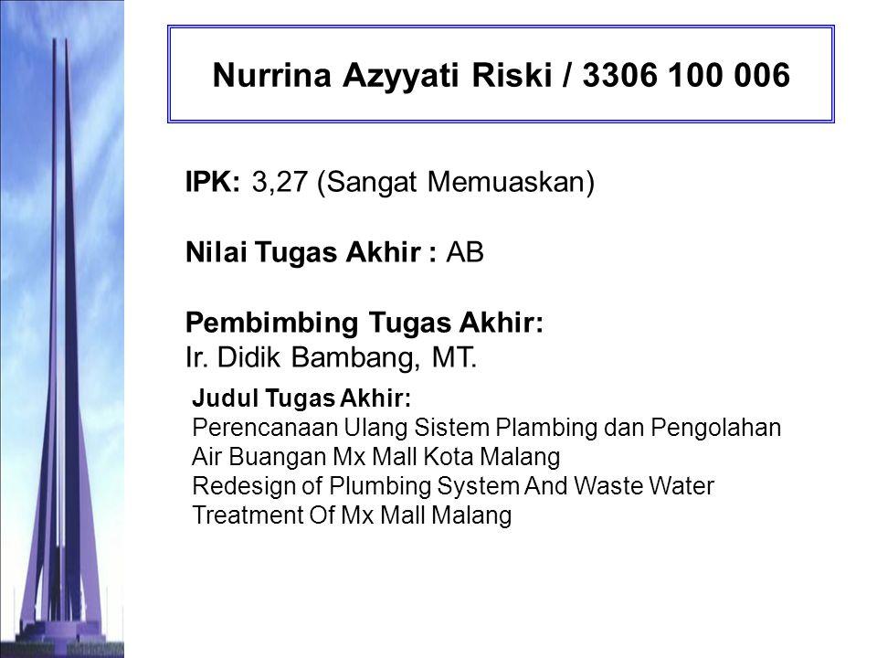 Nurrina Azyyati Riski / 3306 100 006
