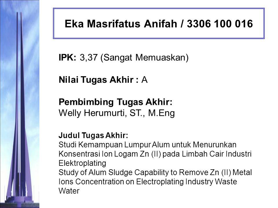Eka Masrifatus Anifah / 3306 100 016
