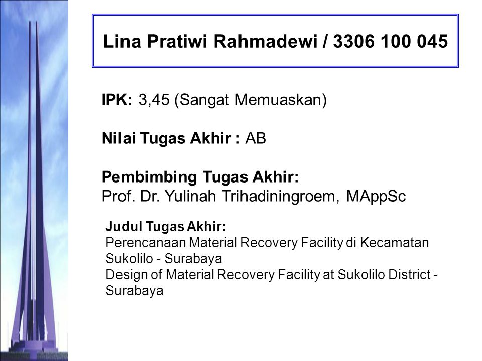Lina Pratiwi Rahmadewi / 3306 100 045