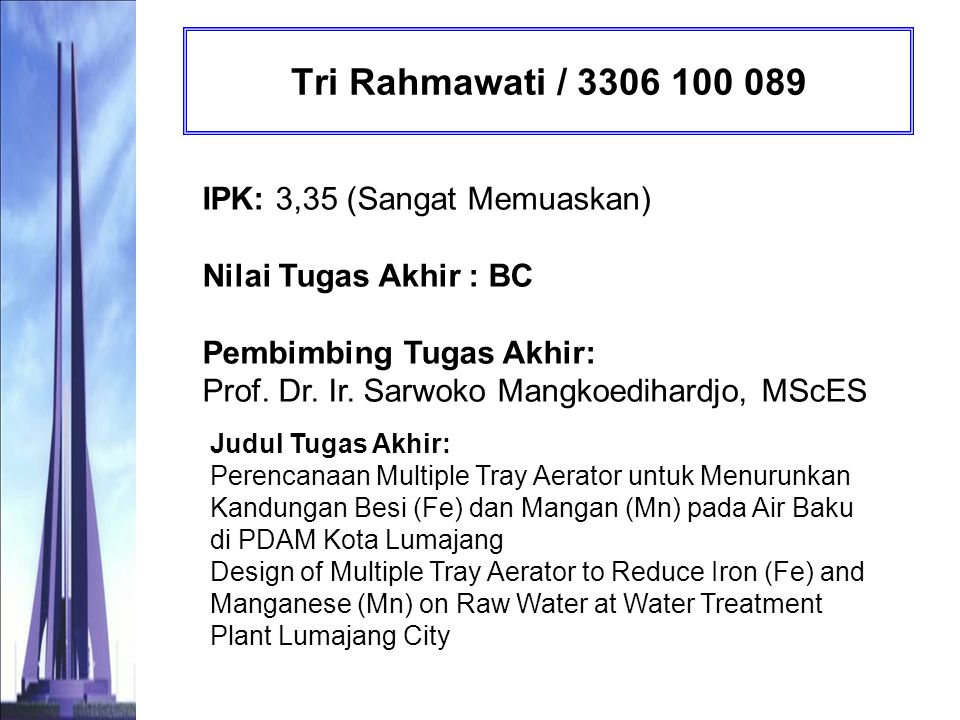Tri Rahmawati / 3306 100 089