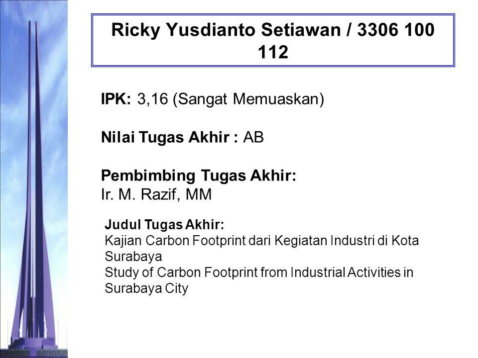 Ricky Yusdianto Setiawan / 3306 100 112