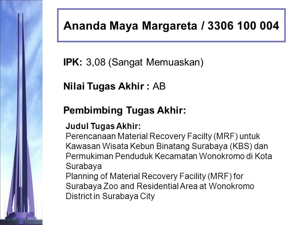 Ananda Maya Margareta / 3306 100 004