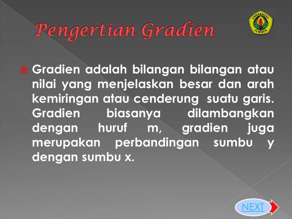 Pengertian Gradien