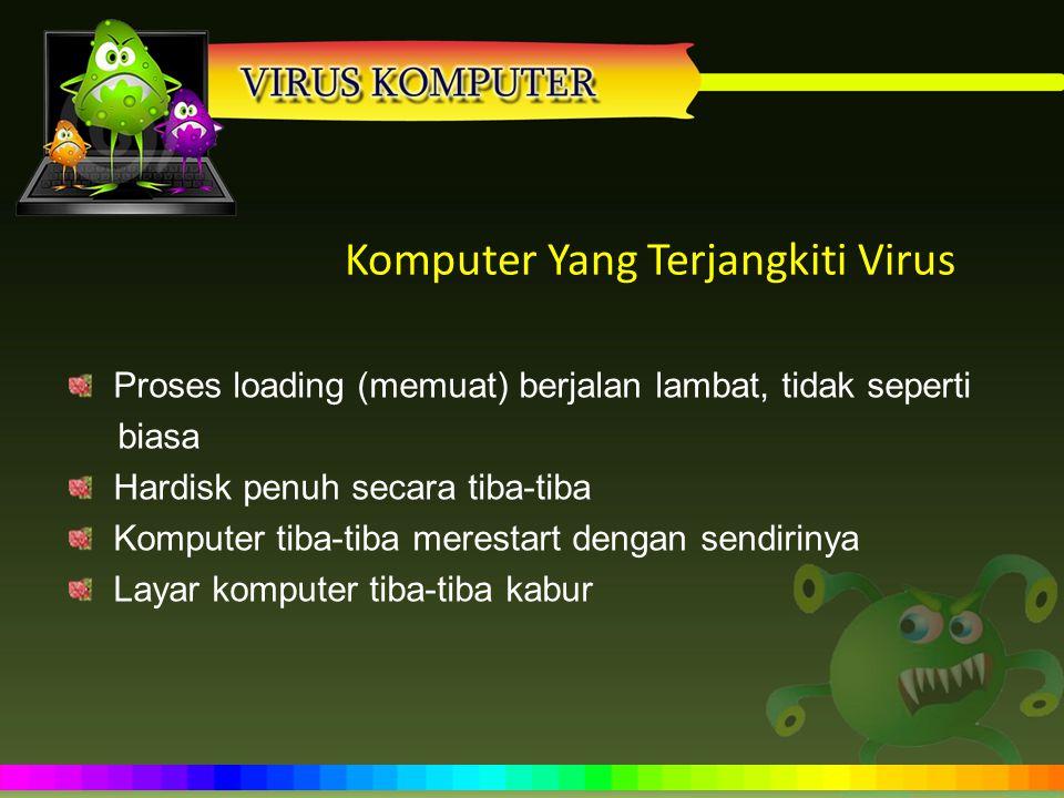 Komputer Yang Terjangkiti Virus
