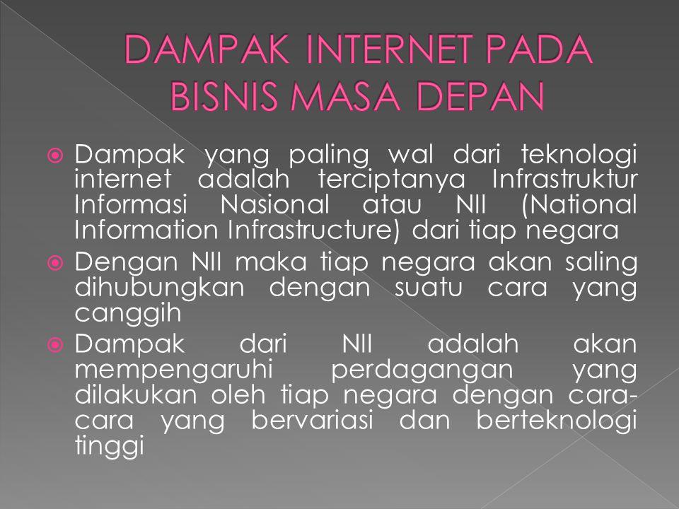 DAMPAK INTERNET PADA BISNIS MASA DEPAN