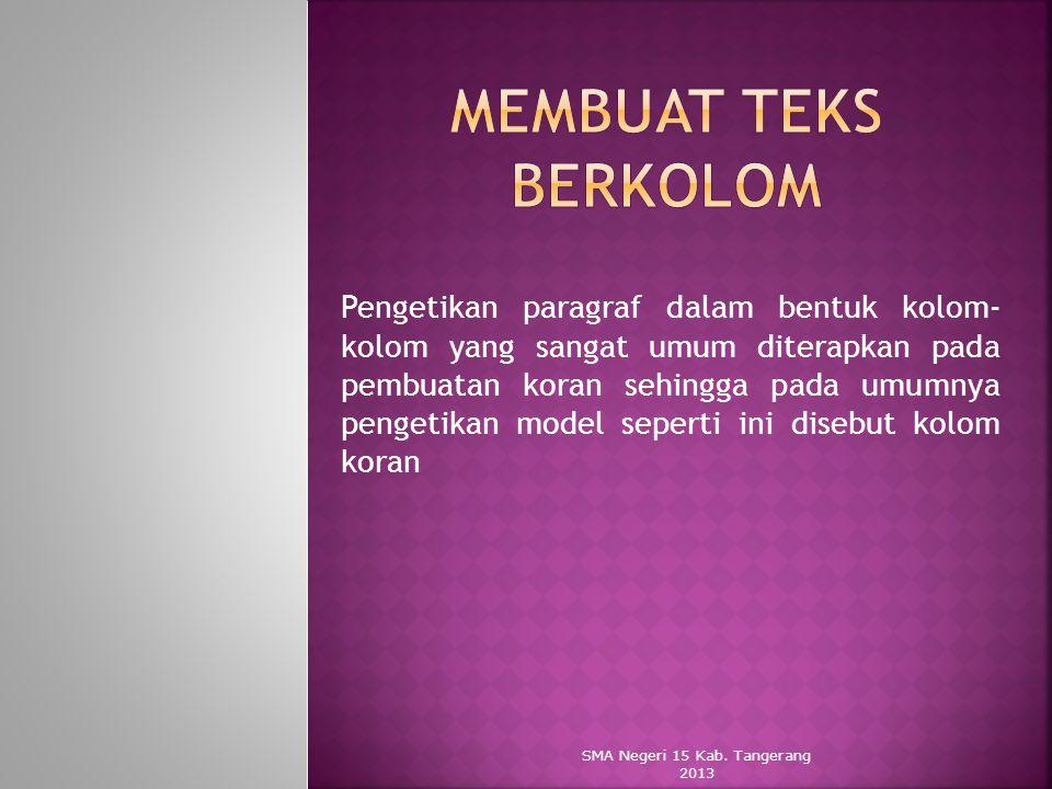 SMA Negeri 15 Kab. Tangerang