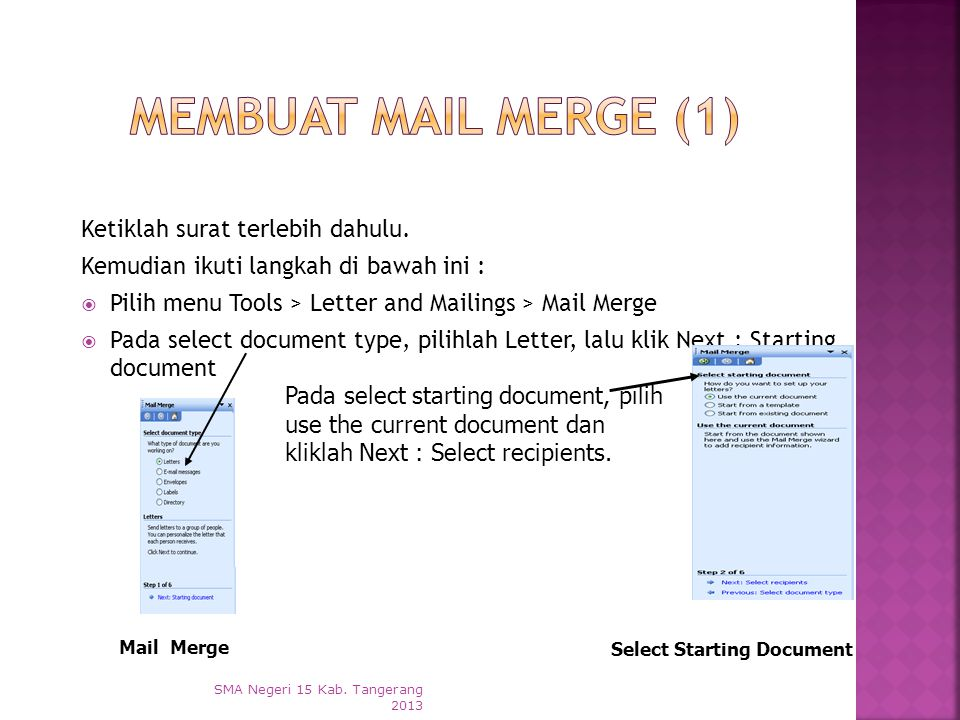 Select Starting Document