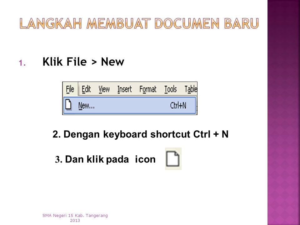 Langkah Membuat Documen Baru