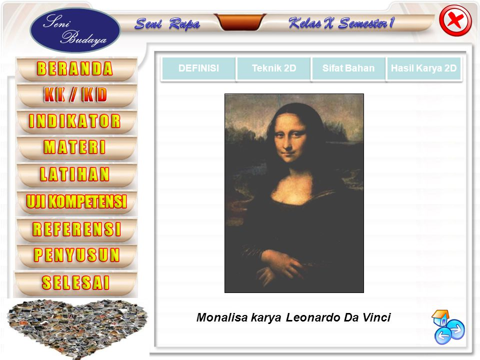 Monalisa karya Leonardo Da Vinci