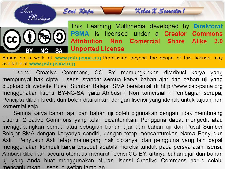 This Learning Multimedia developed by Direktorat PSMA is licensed under a Creator Commons Attribution Non Comercial Share Alike 3.0 Unported License