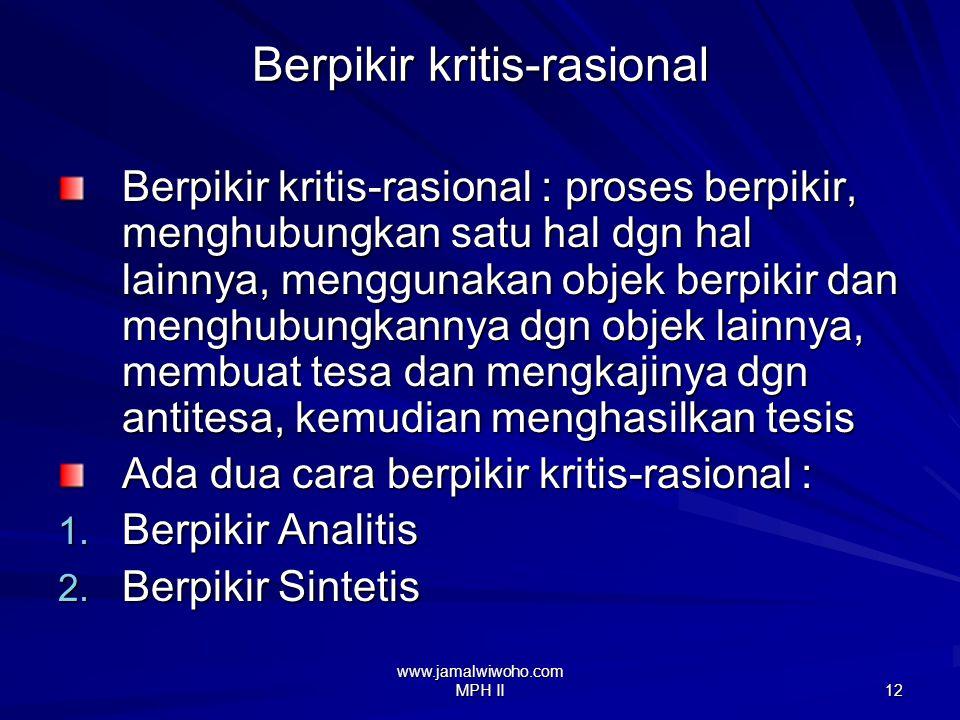 Berpikir kritis-rasional