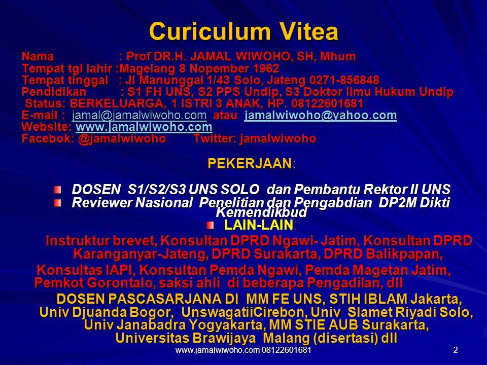 Curiculum Vitea PEKERJAAN: