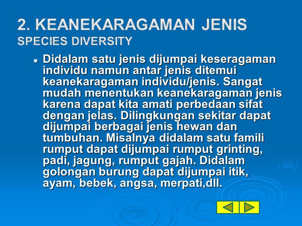 2. Keanekaragaman jenis Species Diversity