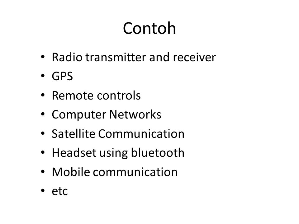 Contoh Radio transmitter and receiver GPS Remote controls