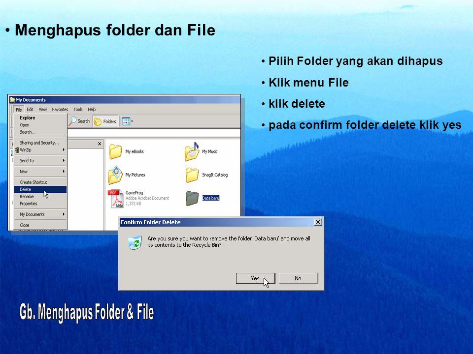 Menghapus folder dan File