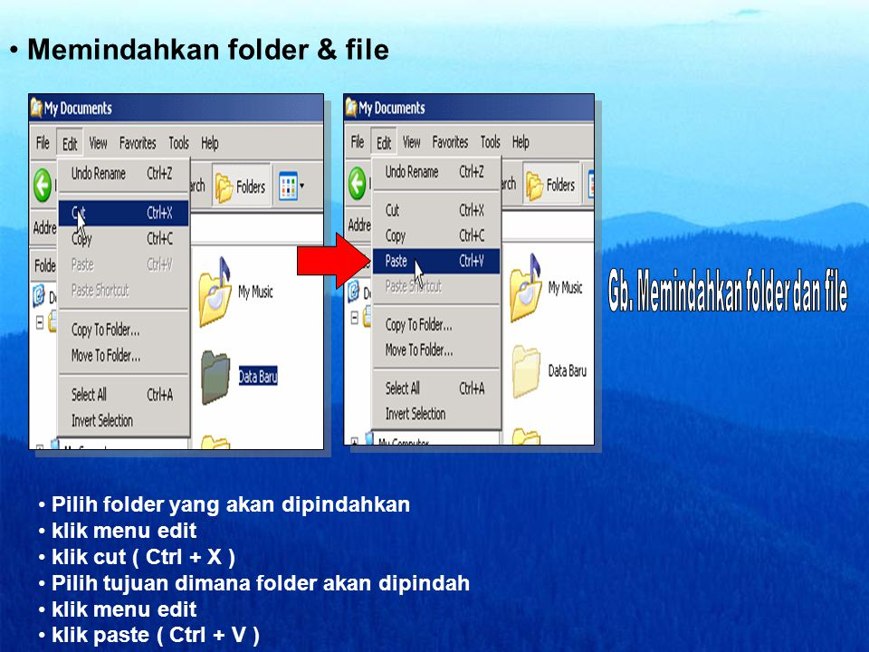 Memindahkan folder & file