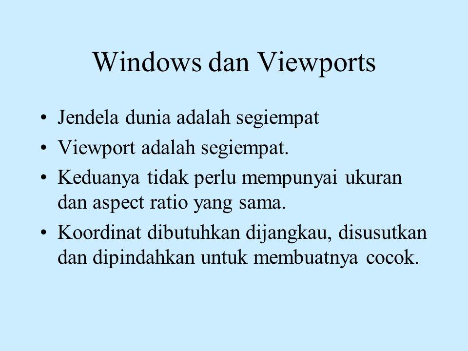 Windows dan Viewports Jendela dunia adalah segiempat