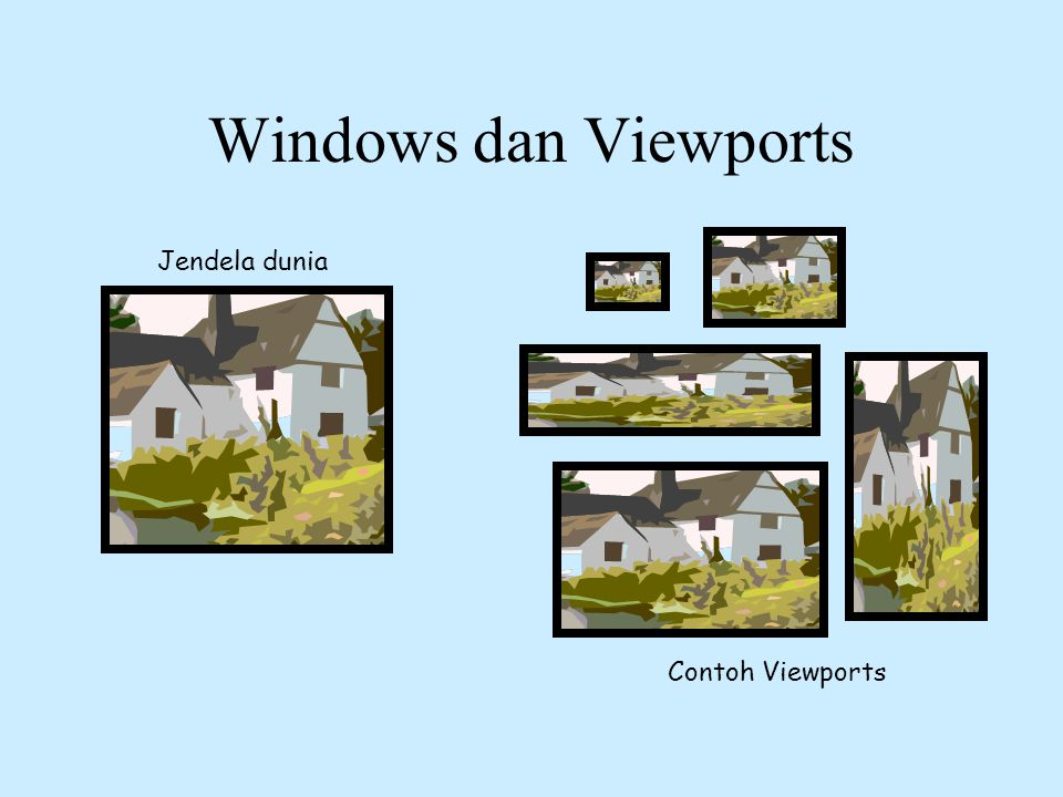 Windows dan Viewports Jendela dunia Contoh Viewports