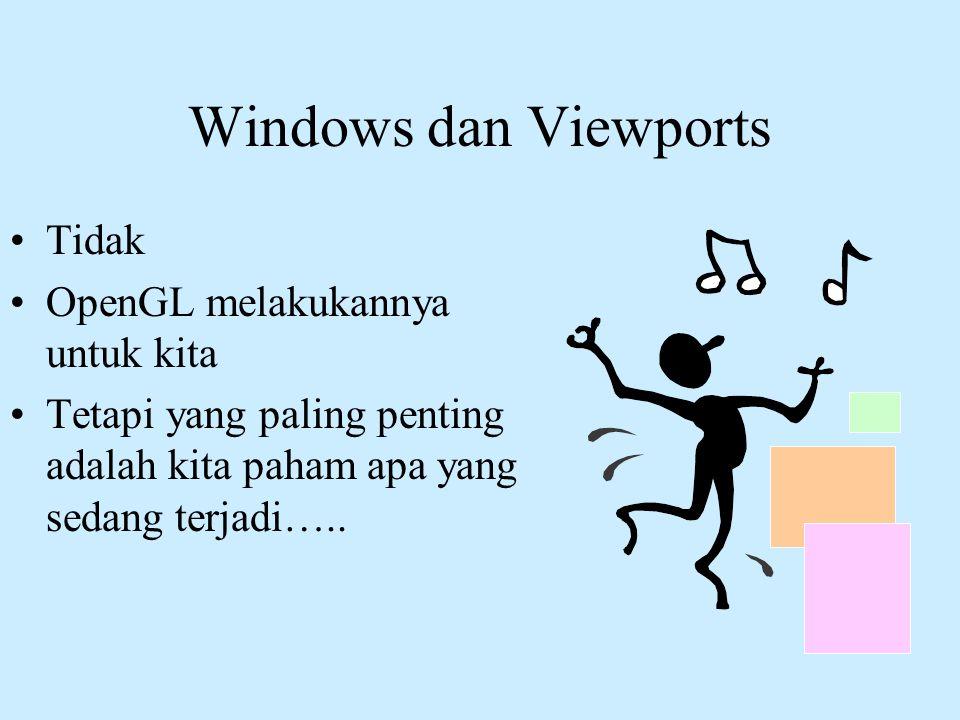 Windows dan Viewports Tidak OpenGL melakukannya untuk kita