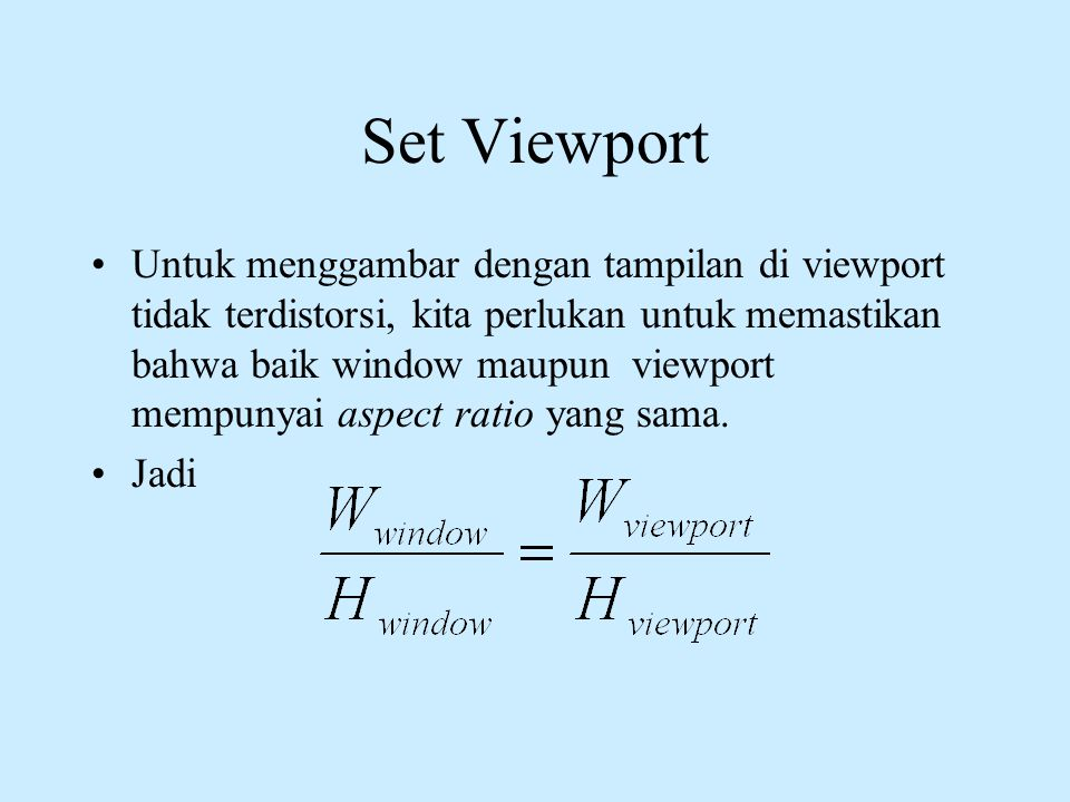 Set Viewport