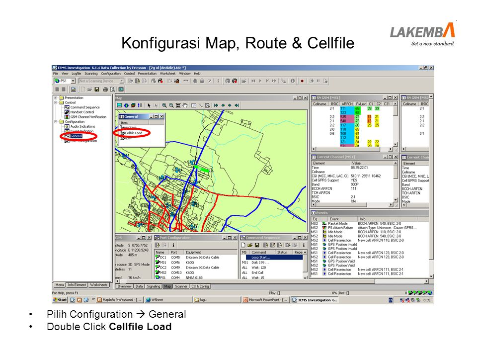 Konfigurasi Map, Route & Cellfile
