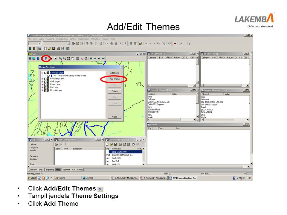 Add/Edit Themes Click Add/Edit Themes Tampil jendela Theme Settings
