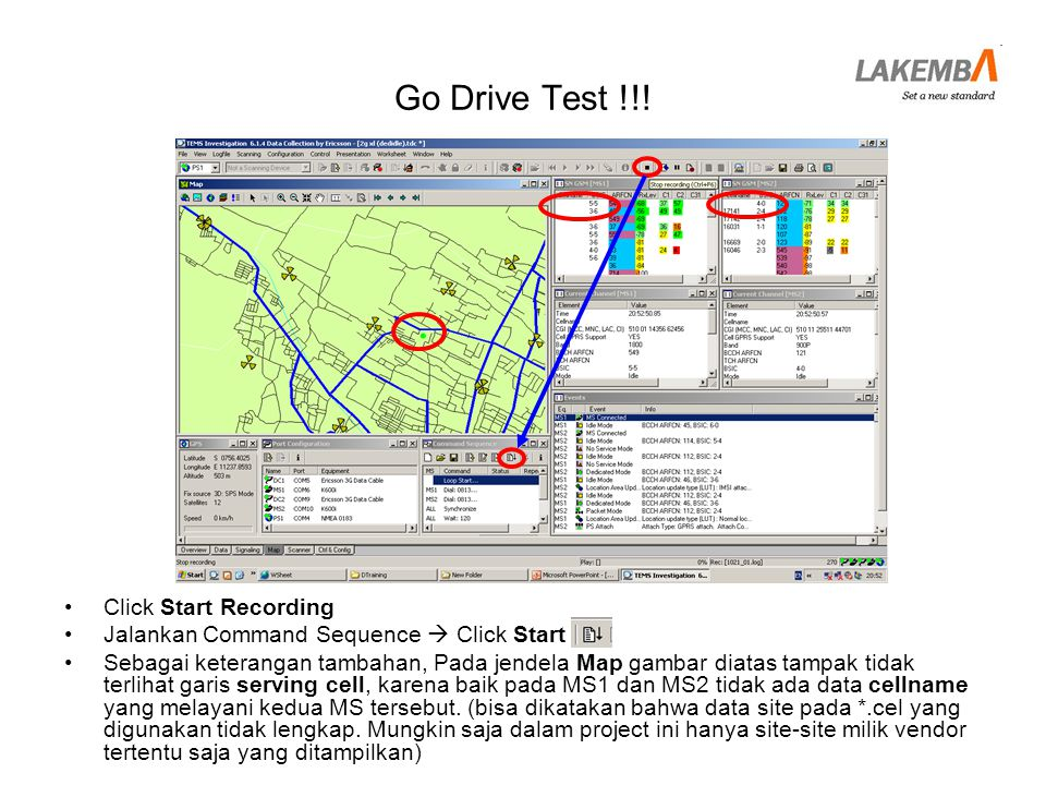 Go Drive Test !!! Click Start Recording